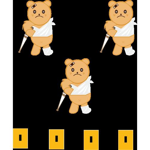 teddy bear for popup card